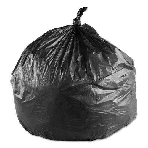 Ibs ibsec242406k 10 gallon trash bags case of 1000 black 24x24 high density 6 mic regular strength coreless rolls