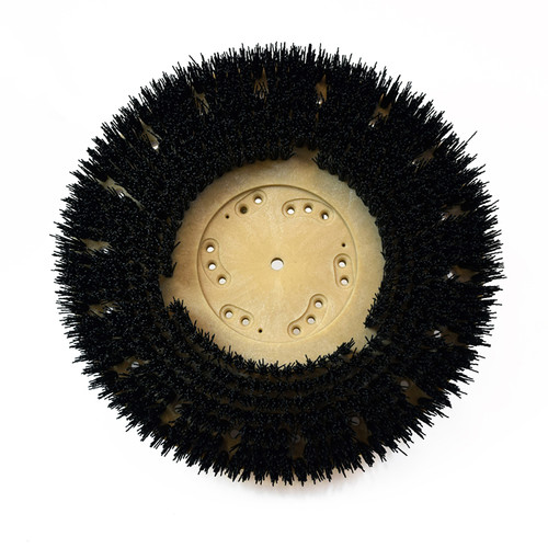 Floor scrubber strip brush .050 nylon 80 grit Malgrit 8132194148pmb with 4148pmb clutch plate 19 inch block fits 21 inch machines by Malish