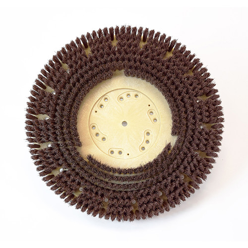 Floor scrubber brush .018 nylon 500 grit Malgrit Lite 813417NP92 with 92 clutch plate 17 inch block by Malish