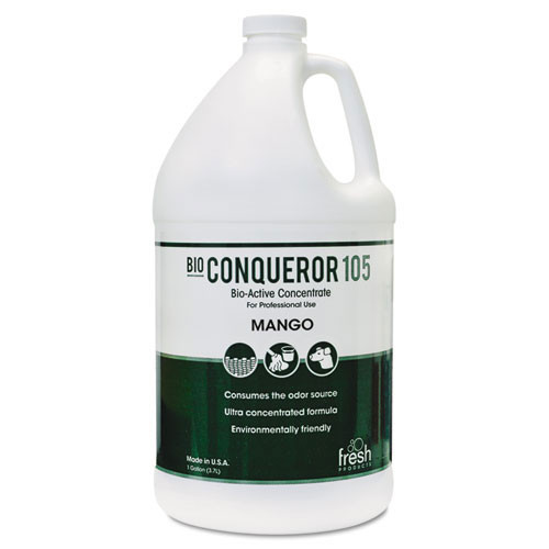 Fresh frs1bwbmg bio conqueror 105 enzymatic odor counteractant concentrate mango scent one gallon size case of 4 bottles