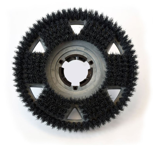 Floor scrubber strip brush .050 nylon 80 grit Malgrit 853218 with 92 uniblock clutch plate 18 inch block by Malish
