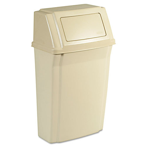 Rubbermaid 7822bei trash can profile 15 gallon container beige