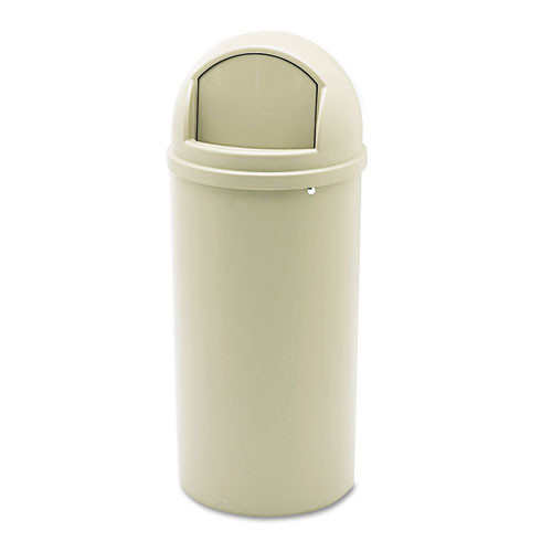 Rubbermaid 816088bei trash can Marshall 15 gallon container beige replaces rcp816088bei rcp816088bg