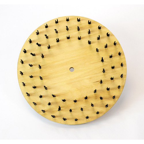 Flat butcher wire steel brush 22 gauge 773715sr150NP92 with 92 clutch plate with riser 15 inch block by Malish