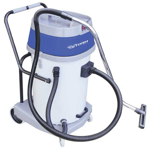 Mercury Storm WVP20 20 gallon wet dry vacuum plastic tank 2.67hp dual motors with hose tool kit