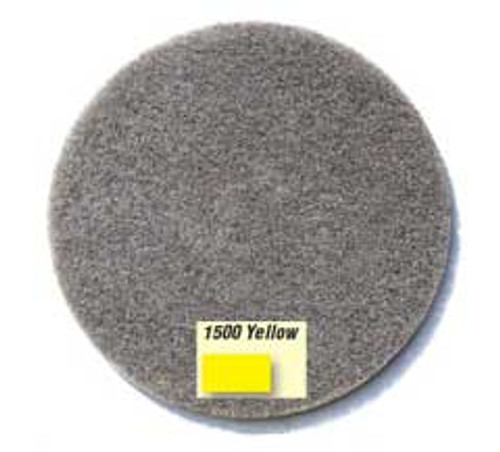 Gorilla diamond floor pads for stone marble granite concrete 21 inch yellow 1500 diamond grit for polishing to bright luster case of 2 pads by etc d402115