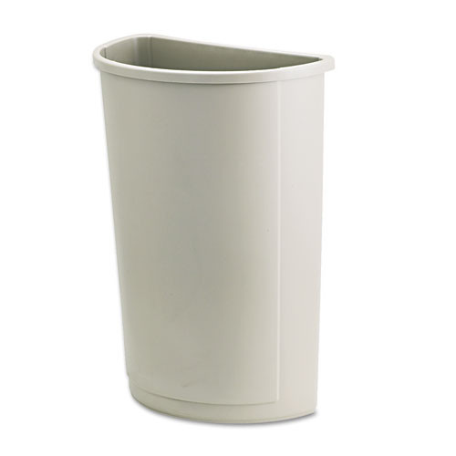 Rubbermaid 3520bei trash can Untouchable 21 gallon container half round beige replaces rcp3520bei rcp352000bg