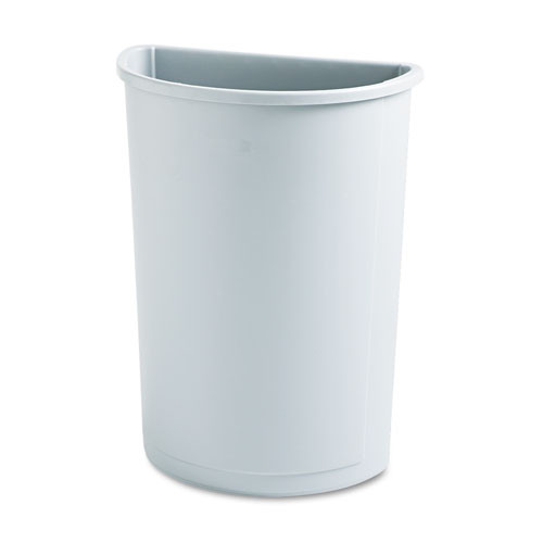 Rubbermaid 3520gra trash can Untouchable 21 gallon container half round gray replaces rcp3520gra rcp352000gy