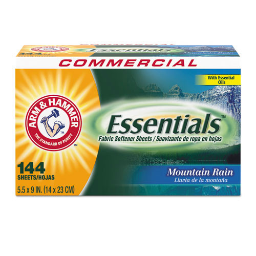 Arm and Hammer CDC3320000102 Essentials Fabric softener 144 sheets per box case of 6 replaces cdc14995 cdc3320014995