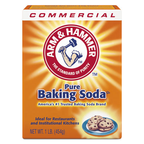Arm and Hammer Pure Baking Soda 16oz per box case of 24 boxes replaces cdc20015628 cdc3320084104