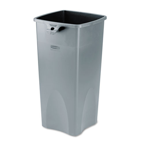 Rubbermaid 356988gra trash can Untouchable 23 gallon container square gray replaces rcp356988gra rcp356988gy