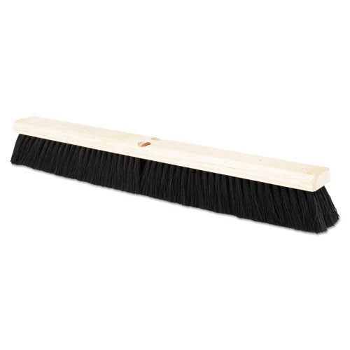 Boardwalk BWK20224 push broom 24 inch hardwood block tampico bristles replaces bru20224
