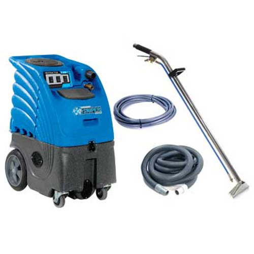 Sandia Sniper6 carpet extractor 8633008009 6 gallon canister dual 3 stage vac motors adjustable 300psi pump