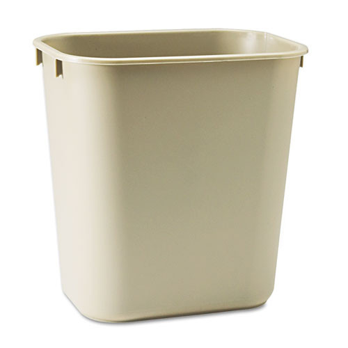 Rubbermaid 2955bei trash can wastebasket 3.5 gallon plastic rectangle beige replaces rcp2955bei rcp295500bg