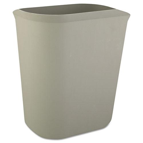 Rubbermaid 2541gra trash can 3.5 gallon wastebasket fire retardant plastic gray