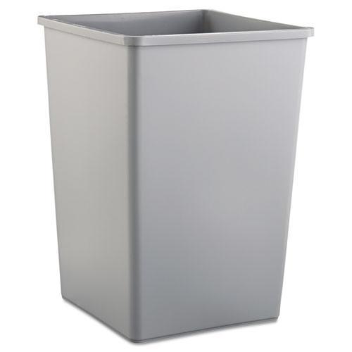 Rubbermaid 3958gra trash can Untouchable 35 gallon container square gray