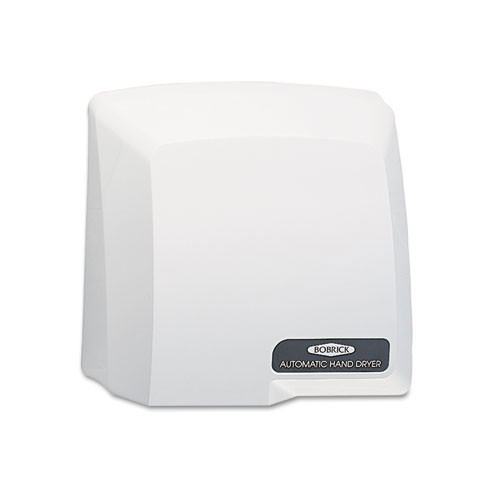 Standard speed electric hand dryer Bobrick surface mounted touch free no touch compac 115 volt grey plastic bob710