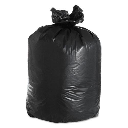Boardwalk BWK526 60 gallon trash bags case of 100 black 38x58 linear low 2.40 mil eqv extra heavy duty strength coreless rolls