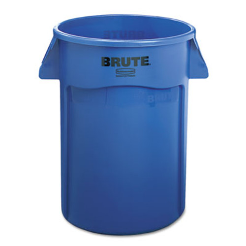 Rubbermaid 264360be trash can 44 gallon Brute round container blue