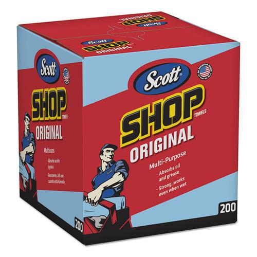 Scott shop wiper towels blue pop up box Kimberly Clark