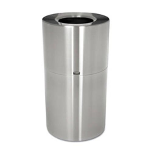 Rubbermaid aot35sapl trash can aluminum atrium 35 gallon satin epoxy finish replaces rcpaot35sapl rcpaot35sanl