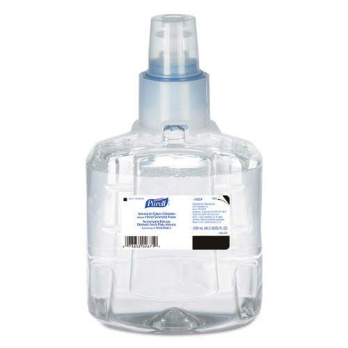 Purell GOJ190402CT advanced green certified hand sanitizer refill 1200ml fragfree 2 carton
