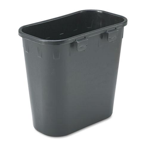 Safco SAF2944BL paper pitch recycling bin rectangular polyethylene 1.75gal black