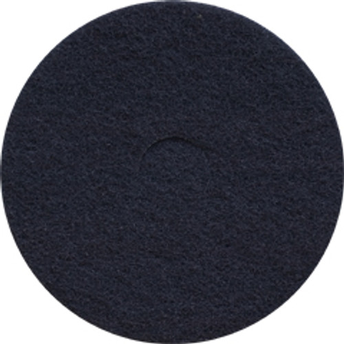 Black Strip floor pads 20 inch standard speed up to 350 rpm case of 5 pads by Cleaning Stuff 20BLACK GW