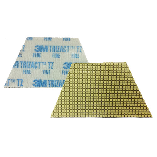 3M 86020 Trizact Diamond TZ Pads blue fine grit for polishing concrete or stone box of 4 trapezoid pads 860203MBX4 gw