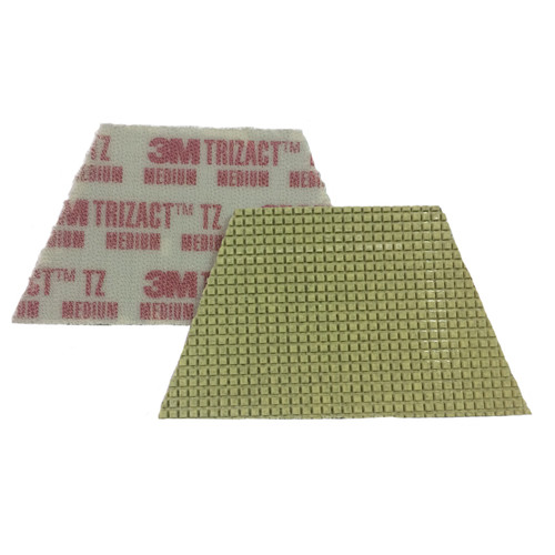 3M 86019 Trizact Diamond TZ Pads red medium grit for polishing concrete or stone box of 4 trapezoid pads 860193MBX4 gw