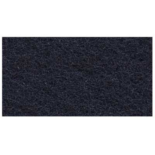 Black Strip Floor Pads 11x14 inch rectangle standard 175 to 300 rpm case of 5 pads by ETC 101114 GW