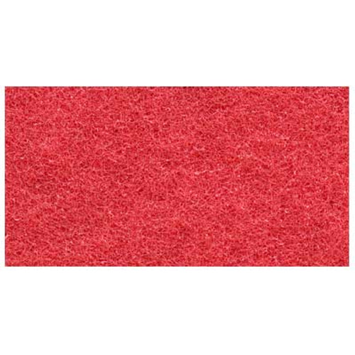 Red Clean and Buff Floor Pads 18x26 inch rectangle standard 175 to 300 rpm case of 5 pads by ETC 701826 GW