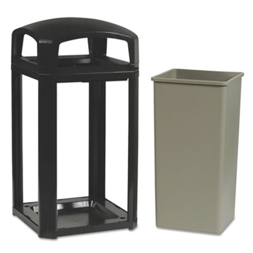 Rubbermaid 3975sab trash can Landmark 50 gallon ash trash container sable
