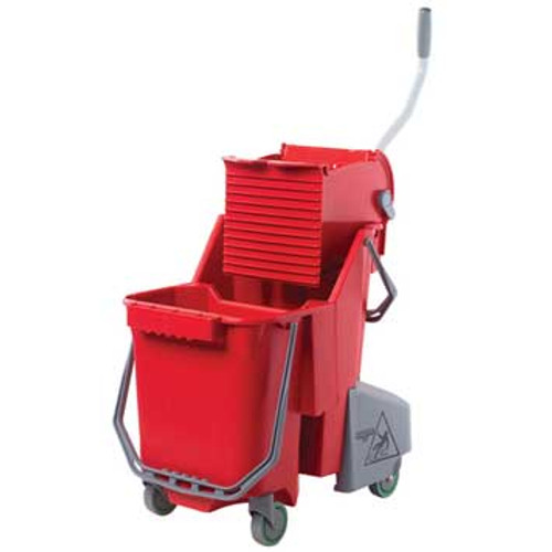 Unger COMBRGW SmartColor red mop bucket wringer combo 8 gallon GW