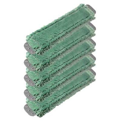 Unger MM400GW SmartColor green antibacterial microfiber mops heavy duty 16x5 launderable case of 5 GW