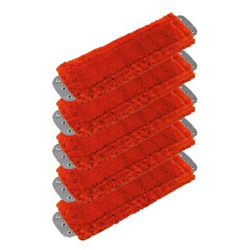 Unger MM40RGW SmartColor red antibacterial microfiber mops