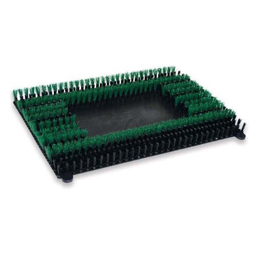 Malish Sonicscrub 703020 14x20 inch green MalGrit scrub brush 120 grit .022 nylon for square strip scrub machines