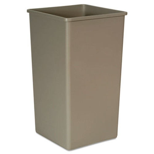 Rubbermaid 3959bei trash can Untouchable 50 gallon container square beige