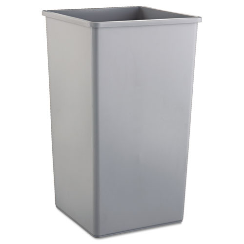 Rubbermaid 3959gra trash can Untouchable 50 gallon container square gray