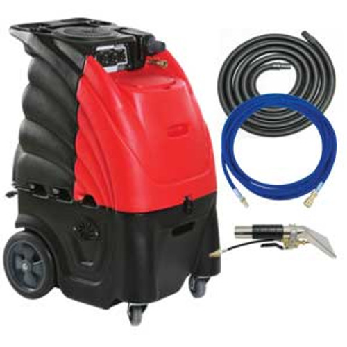Sandia indy automotive 804000h auto detail upholstery cleaner carpet extractor with heater 12 gallon canister with hand tool hose kit 3 stage motor 100psi