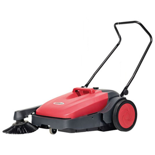 Viper PS480 Outdoor Indoor Sweeper push powered 28 inches 2 brush system 10 gallon capacity 50000504