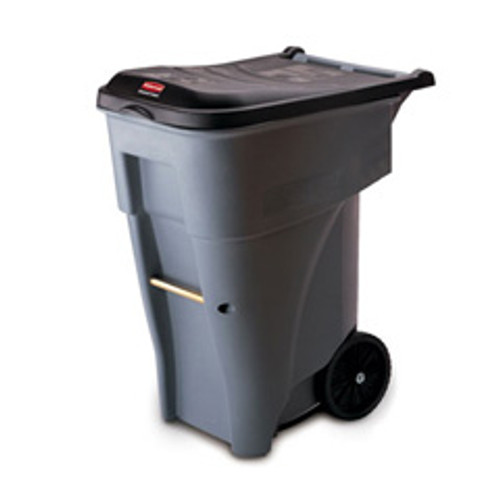 Rubbermaid 9w21gra trash can with wheels 65 gallon Brute ergonomic roll out container gray replaces rcp9w21gra rcp9w21gy