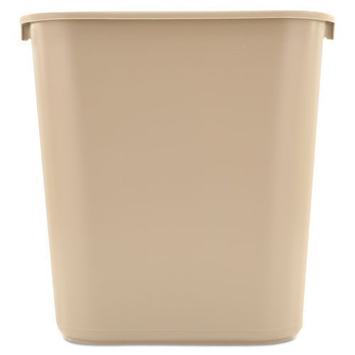 Rubbermaid 2956bei trash can 7 gallon wastebasket plastic rectangle beige replaces rcp2956bei rcp295600bg