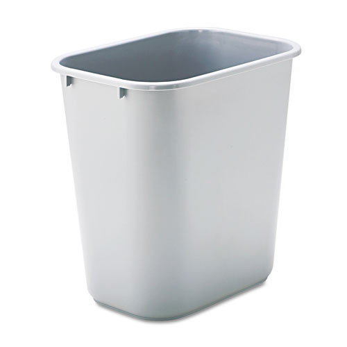Rubbermaid 2956gra trash can 7 gallon wastebasket plastic rectangle gray replaces rcp2956gra rcp295600gy