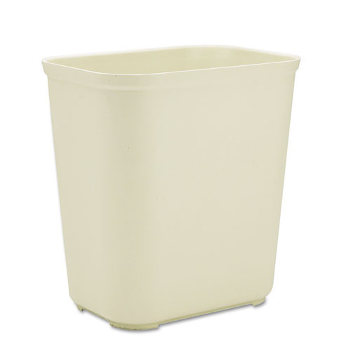 Rubbermaid 2543bei trash can 7 gallon wastebasket fire retardant plastic beige replaces rcp2543bei rcp254300bg