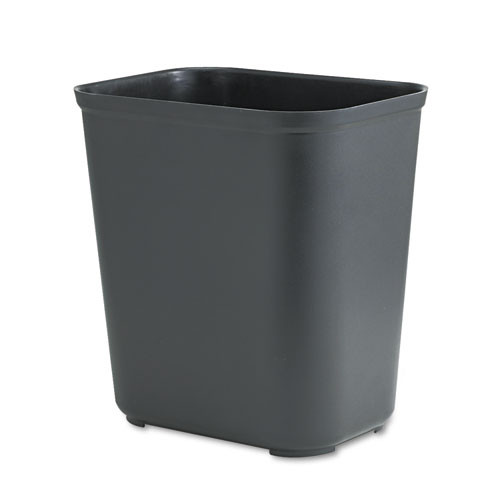 Rubbermaid 2543bla trash can 7 gallon wastebasket fire retardant plastic black replaces rcp2543bla rcp254300bk