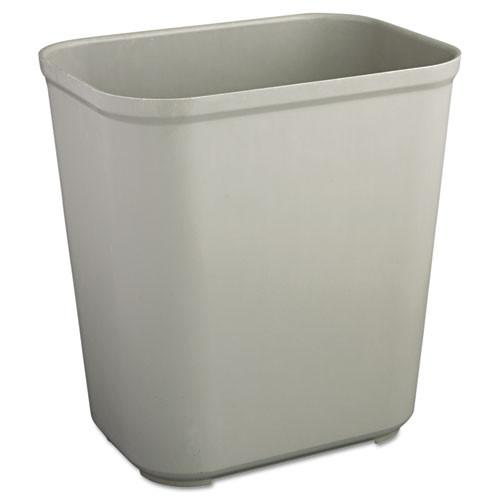 Rubbermaid 2543gra trash can 7 gallon wastebasket fire retardant plastic gray