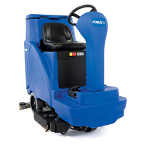 Clarke Focus2 34 Disc Rider Floor Scrubber 56114032 34 inch with chemical mixing system 420ah wet battery shelf charger 31 gallon with traction drive