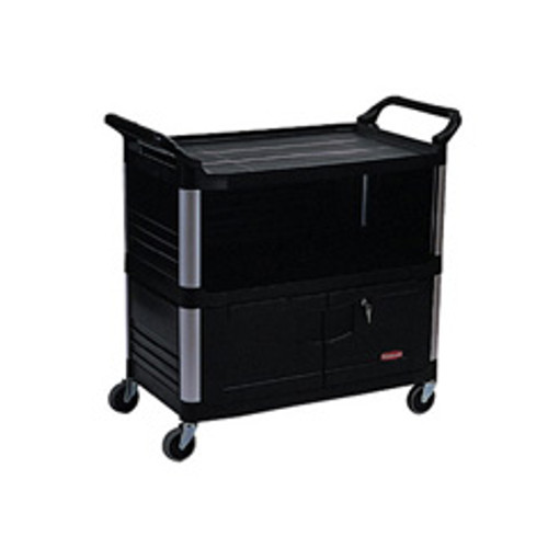 Rubbermaid 4095bla av cart audio visual xtra av equipment