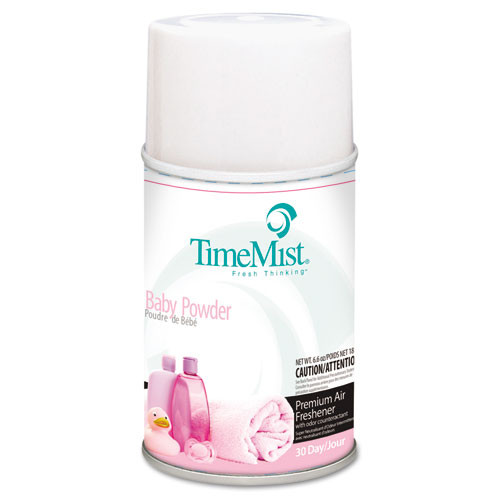 Timemist air freshener refills baby powder 6.6oz case of 12 replaces tms2512 and TMS332512TMCT TMS1042686